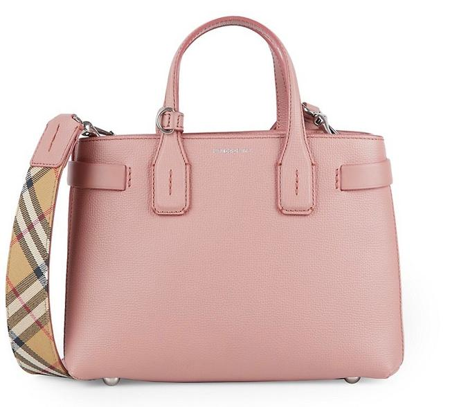 Item - Small Banner Ash Rose Leather Satchel