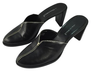 A. Marinelli Leather Black Leather Mules