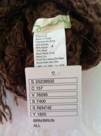 Anthropologie Brown Infinity Scarf