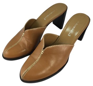 A. Marinelli Tan Leather Mules