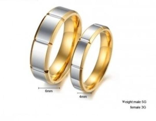 Bogo Free 2 Tone Matching Wedding Bands Free Shipping