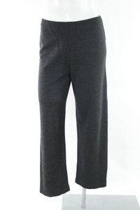 Eileen Fisher Wool Blend Stretch Flat Front Cropped Trousers Ps Pants