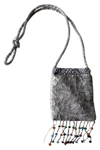 Rampage Tie-dye Marbled Beaded Pouch Shoulder Bag