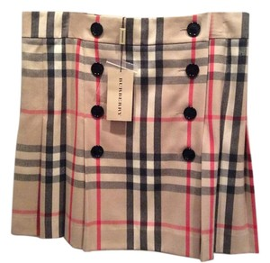 Burberry Skirt Tan/plaid