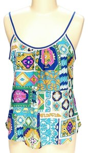 Trina Turk Silk Bright Print Top