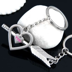 Stainless Steel Matching Lovers Key Chains Free Shipping