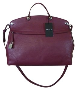 Furla Burgundy Messenger Bag