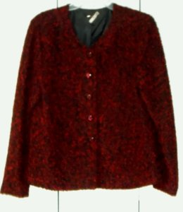 red and black speckle Jacket
