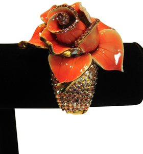 Bracelet; Jeweled Enamel Rose by Tara - [ Roxanne Anjou Closet ]