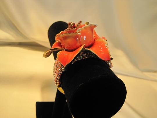 Other Bracelet; Jeweled Enamel Rose by Tara - [ Roxanne Anjou Closet ]