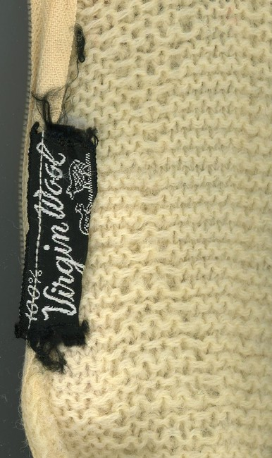 Other Vintage 1970s 70s 80s 1980s Alpine Aspen Geometric Knit Knitted Beige Virgin Wool Funnel Neck Cable Knit Fall Boho Sweater