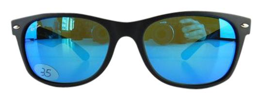 f56893ab8f Ray-Ban Matte Rubber Black Reflective Blue Mirror Lens Gently Used ...