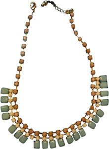 Nordstrom Greek- style stone necklace turquoise, white and peach/tan stones. Gold clasp.