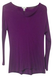 Old Navy Longsleeve V-neck T Shirt Purple