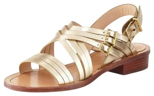 Pour La Victoire Leather Summer Platino Sandals