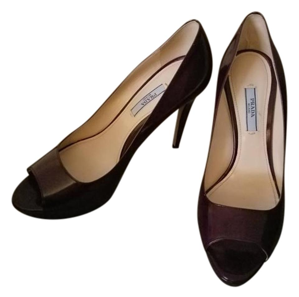 lady praised Prada Purple Pumps Highly praised lady and appreciated by the audience of consumers 83a996