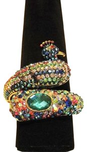 Jeweled Serpentine Peacock Bracelet - [ Roxanne Anjou Closet ]