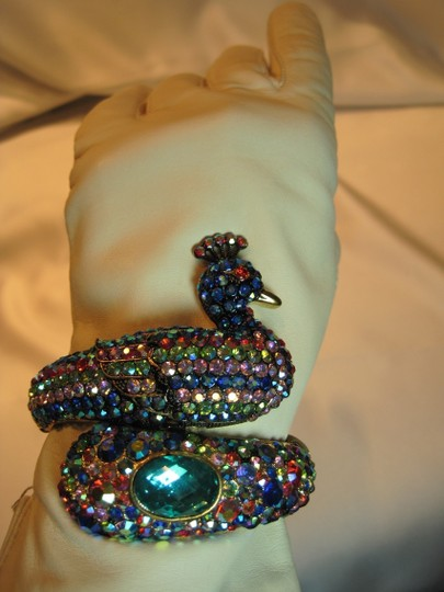 Other Jeweled Serpentine Peacock Bracelet - [ Roxanne Anjou Closet ]