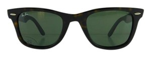 Ray-Ban Gently Used Ray-Ban Sunglasses RB 2140 902 Wayfarer Tortoise Acetate Gray Green Lens Full-Frame 50mm Italy
