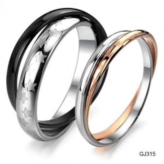 Preload https://item4.tradesy.com/images/silverblackrose-gold-reduced-matching-couples-stars-band-ring-free-shipping-jewelry-set-154053-0-0.jpg?width=440&height=440