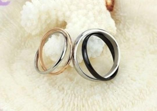 Silver/Black/Rose Gold Reduced Matching Couples Stars Band Ring Free Shipping Jewelry Set