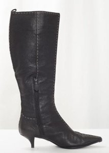 Herms Hermes Womens Leather Black Boots