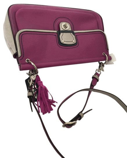 Coach Color-blocking Shoulder Tote Cross Body Bag