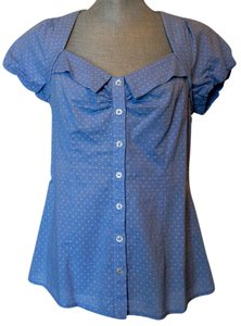 Anthropologie Button Down Shirt Sky Blue