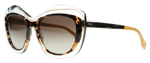 Fendi Like New! Fendi Oversized Transparent Tortoise Cat Eye Sunglasses