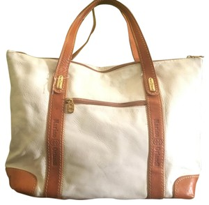 Marino Orlandi Tote in White And Tan