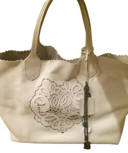 Ralph Lauren Leather Tote in White