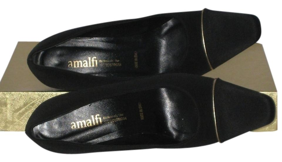 9cd3db000f0 Amalfi Black Made For Nordstrom s Fabric W  Gold Stripe Pumps Size ...