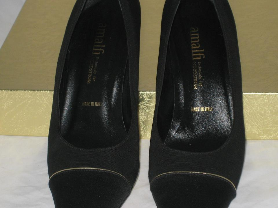 7a3ada2cdc8 Amalfi Black Made For Nordstrom s Fabric W  Gold Stripe Pumps. Size  US 8  ...