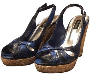 White House | Black Market Blue/Black Wedges