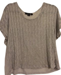 Forever 21 Casual Sheer Top Gray