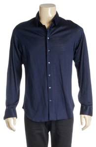 Giorgio Armani Button Down Shirt Blue