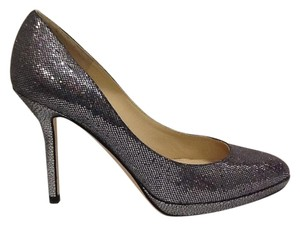 Jimmy Choo Chic Classic Gala Silver Pumps
