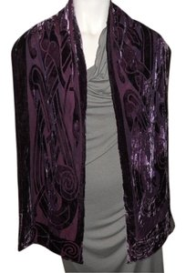 Celtic silk velvet burnout scarf/wrap