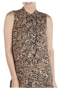 Ralph Lauren Animal Print Sleeveless Ruffle Top $45 OBO Size 2 **Free Shipping** NWT