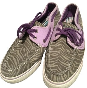 Sperry Purple and zebra Athletic