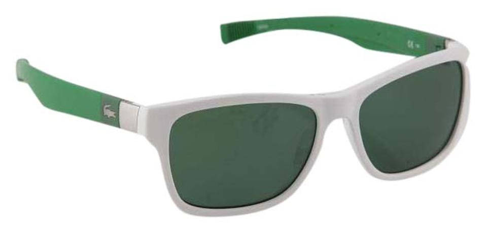 8777d2be5a Lacoste   White Green Silver L737s Sunglasses - Tradesy