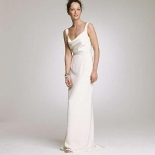 J.Crew Off White Silk Tricotine Tatiana Casual Wedding Dress Size 2 (XS)