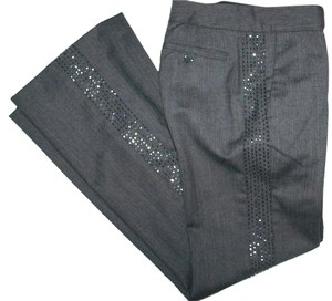 Rebecca Taylor Embellished Straight Pants Gray