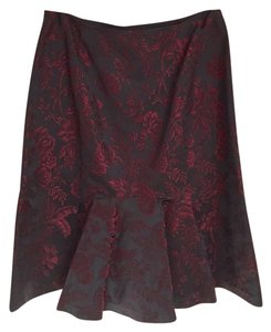 Ann Taylor Skirt Black & Burgundy