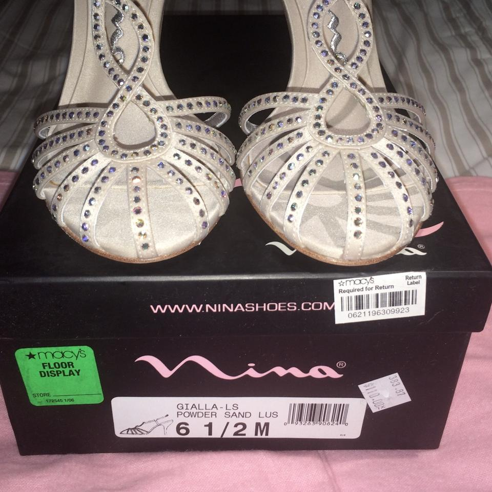 0654cf7de7 Nina Shoes Sparkle Strappy Classic Wedding Champagne Sand Formal Image 10.  1234567891011
