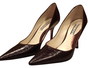 Anne Klein Brown Croc Print Pumps
