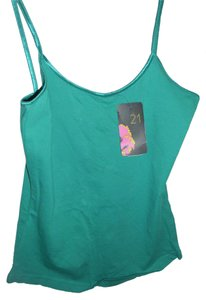 Forever 21 Undergarment Workout Comfortable Sporty Top green
