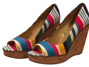Nine West Blue multi Wedges