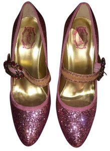 e6215963d11e Hale Bob Mary Jane Baroque Sparkle Glitter Pink Pumps