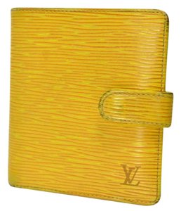 Louis Vuitton Yellow Epi Leather Porte Bi-Fold Wallet